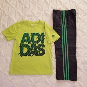 Adidas Jogging Pants w/short Sleeve T-Shirt